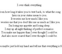 forever insecure love overthink quote