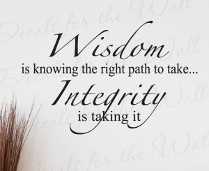 Wisdom Knowing Right Path Take Integrity Inspirational Character ...