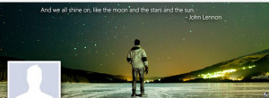 Facebook Cover Photo John Lennon Song Quote (click to view)