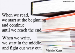 Writing Quote for the Week: Vickie Karp