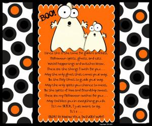 Copy of Visiting Teaching Ghost Cute Halloween Poems