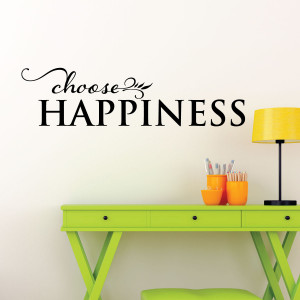 Choose Happiness Wall Quotes™ Decal