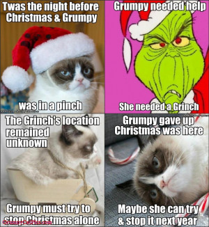 Grumpy Cat Tries To Stop Christmas