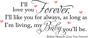 Baby Girl-Boy Quotes Love You Forever