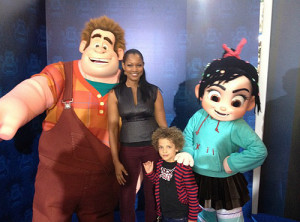 Garcelle Beauvais & her son Jaid at Wreck-It Ralph premiere ...