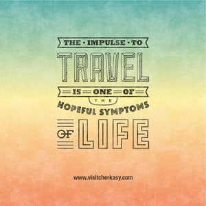 ... Shestopalov has created a set of typographic posters about traveling