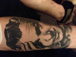 Bob Marley Portrait Tattoo