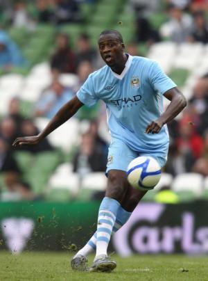 Yaya Toure Yaya Toure of Manchester City passes the ball during the