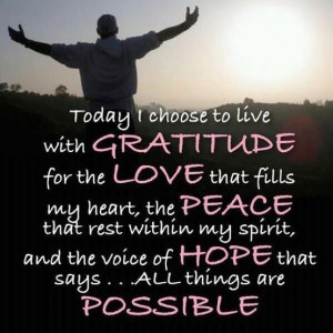 Today I choose to live