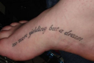 Tattoo Ideas: Quotes on Dreams, Hope, Belief