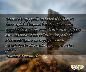 Pollution Quotes About