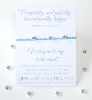 homepage > MY STORY ROCKS > 'WILL YOU BE MY BRIDESMAID?' QUOTE WISH ...