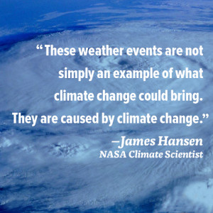 These weather events are not simply an example of what climate change ...
