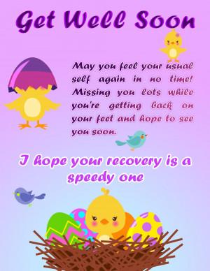 Feel Better Soon Free get well soon ecard that