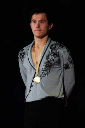 Patrick Chan Patrick Chan of Canada poses after winning the Mens Free