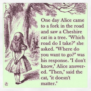 alice in wonderland quotes | Tumblr: The Roads, Forks, Cheshire Cat ...