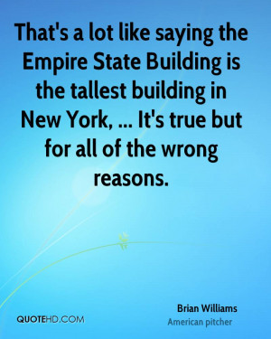 That's a lot like saying the Empire State Building is the tallest ...