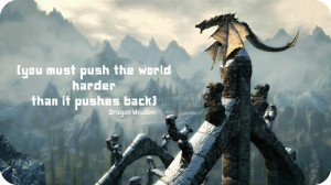 Skyrim Paarthurnax Quotes Paarthurnax, dragon, skyrim