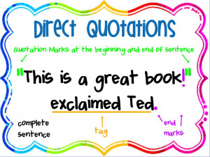 Direct Quotations Poster