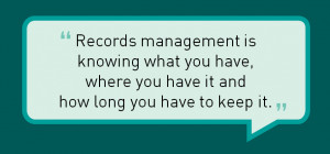 ... regulations, practices and legal ramifications of records management