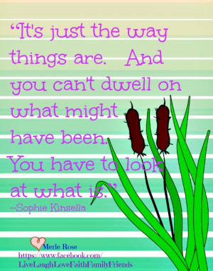you can't dwell on the past ~