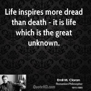 Emile M. Cioran Death Quotes