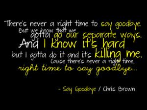 Say GoodbyeChris Brown