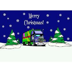 semi_truck_merry_christmas_greeting_cards_pk_of_2.jpg?height=250&width ...