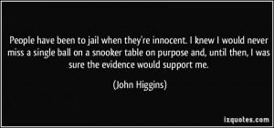 People have been to jail when they're innocent. I knew I would never ...