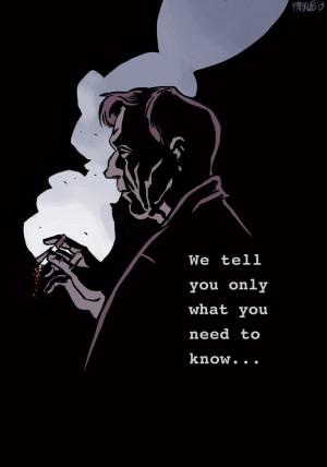 The X-files_Cigarette Smoking man by nonamefox