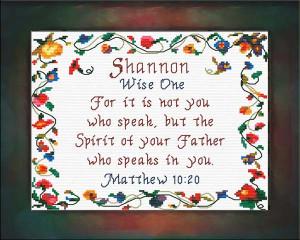 Name Blessings - Shannon