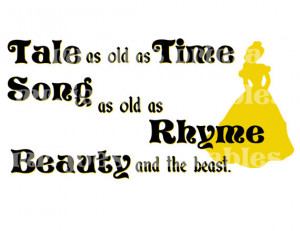 Belle DIY PRINTABLE Beauty and the Beast Disney quote Wedding Princess ...