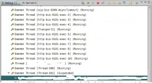 In the above screenshot, I am debugging [Thread-691] , when I step ...