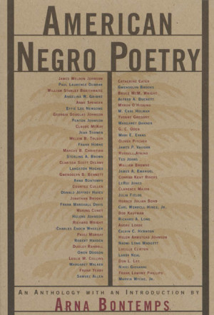 Edited with an Introduction by Arna Bontemps American Negro Poetry