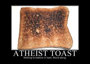 Funny Atheist Joke Meme - Atheist toast - nothing to believe in here ...