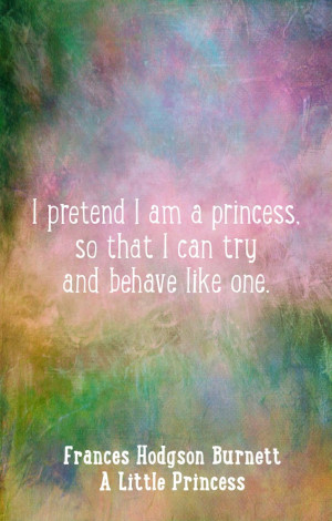 ... am a princess...