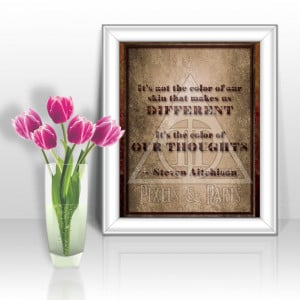 Race Equality Wall Art | Inspirational Quote Poster | Motivational ...