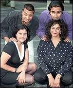 ... top left: Kulvinder Ghir, Sanjeev Bhaskar, Meera Syal and Nina Wadia