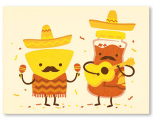 ... Funny Chips and Salsa Mustache Poster, Cool Musical Moustache Food