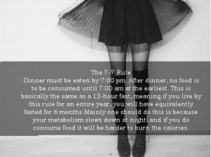 the 7-7 rule ana tips: Ana Mia Diet, Proanamia Motivation, Pro Anamia ...