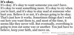 Everything's going to be okay