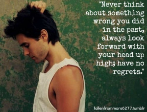 Jared leto, quotes, sayings, look forward, positive, quote