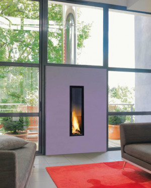 vertical gas fireplace