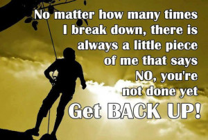 ... Never give up. (What?? I'm just being thorough.) #strength #motivation