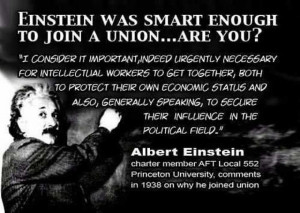 ... on you know it makes sense join a union if you work in public services