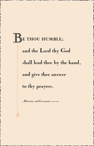 August 2013's scripture the Primary Children will be memorizing.