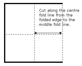 Unfold the paper and fold in half the other direction to look like ...