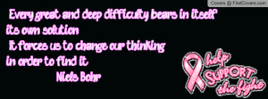 Breast cancer awareness- quote Profile Facebook Covers