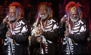 George Clinton gives up the funk. More photos by Daniel Corrigan.