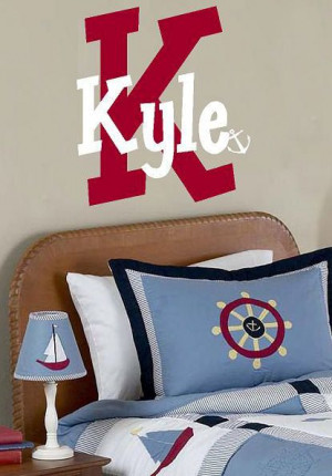 ... Mongram name anchor Vinyl Lettering words wall quotes graphics Home